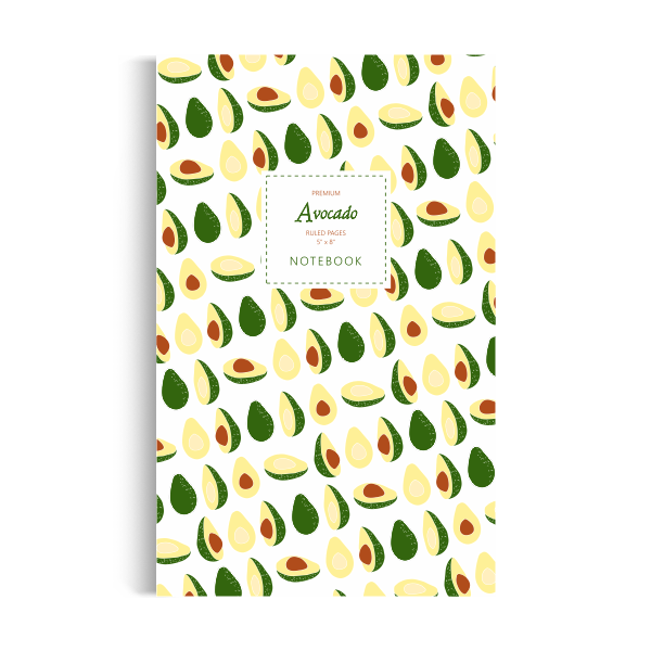 Notebook: Avocado - White Edition (5x8 inches)