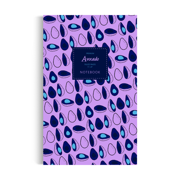 Notebook: Avocado - Dark-Purple Edition