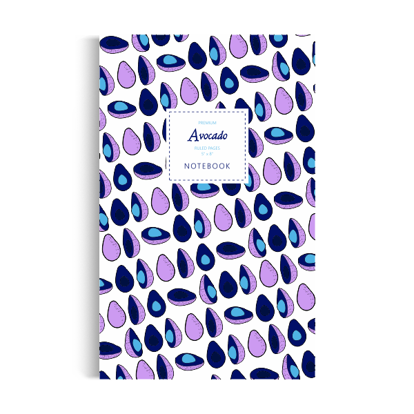Notebook: Avocado - White-Purple Edition