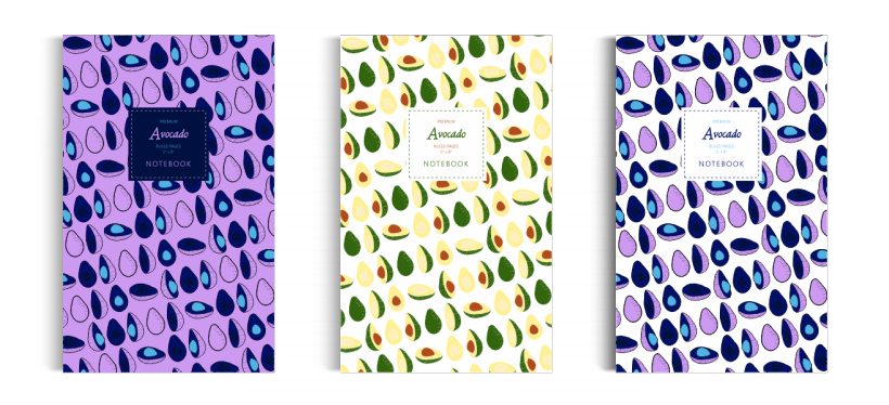 Notebook: Avocado Collection (5x8)