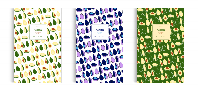 Notebook: Avocado Collection (5x8 inches)