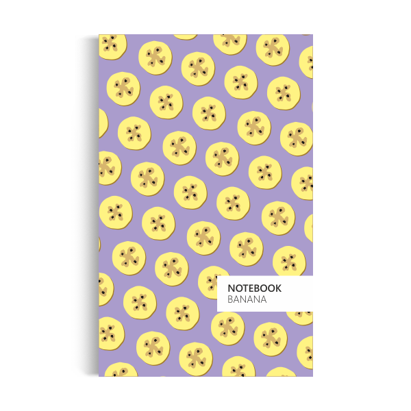 Banana Notebook: Purple Edition (5x8 inches)