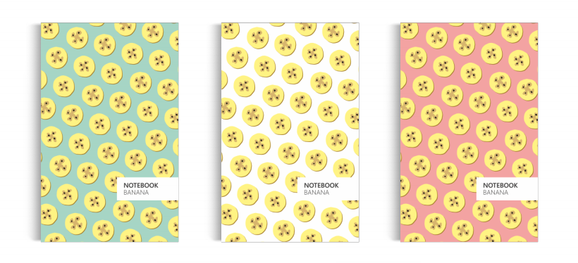 Notebook: Banana Collection (5x8 inches)