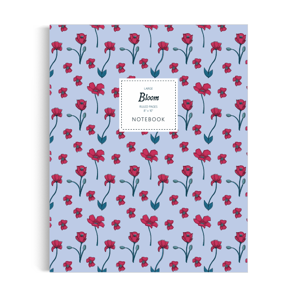 Bloom Notebook: Navy Edition (8x10 inches)