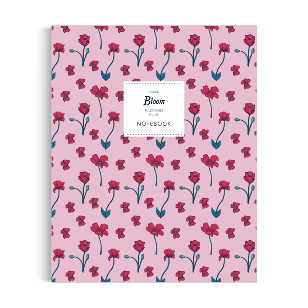 Bloom Notebook: Rose Edition (8x10 inches)