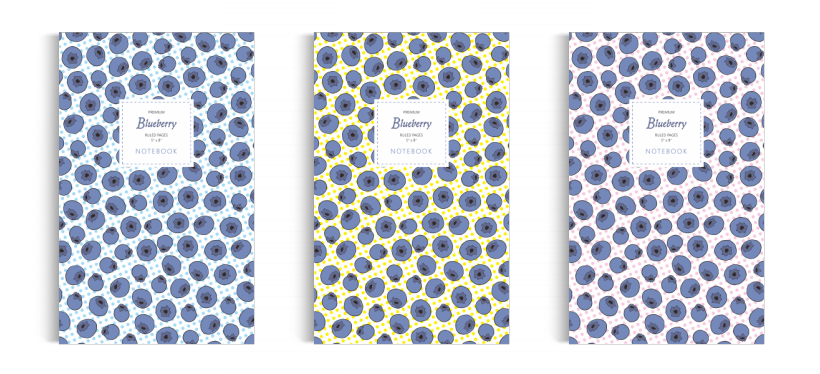 Notebook: Blueberry Collection (5x8 inches)