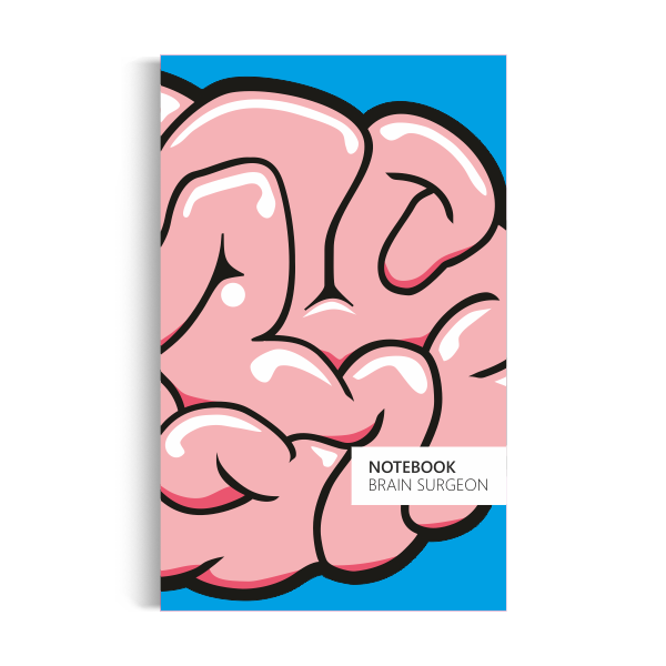 Notebook: Brain Surgeon - Blue Edition (5x8 inches)