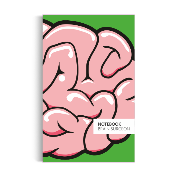 Brain Surgeon Notebook: Green Edition (5x8 inches)