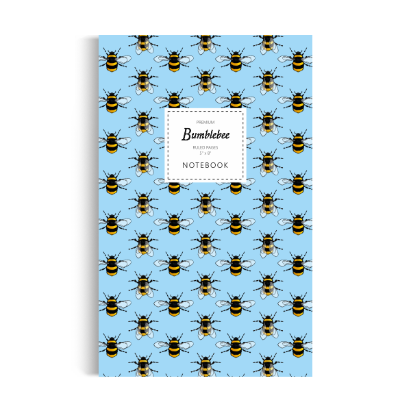 Notebook: Bumblebee - Sky Blue Edition (5x8 inches)