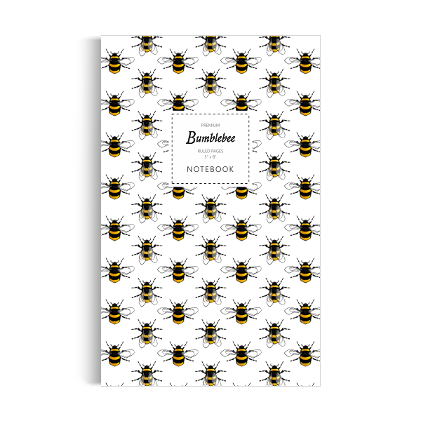 Bumblebee Notebook: White Edition (5x8 inches)