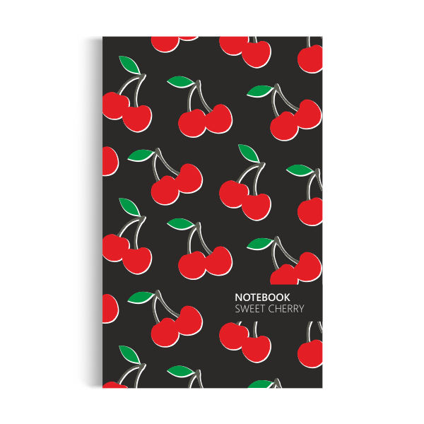 Cherry Notebook: Black Edition (5x8 inches)