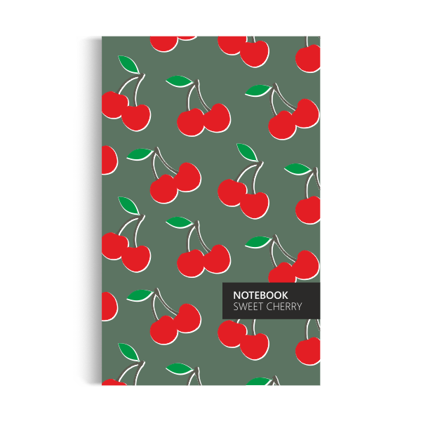 Cherry Notebook: Green Edition (5x8 inches)