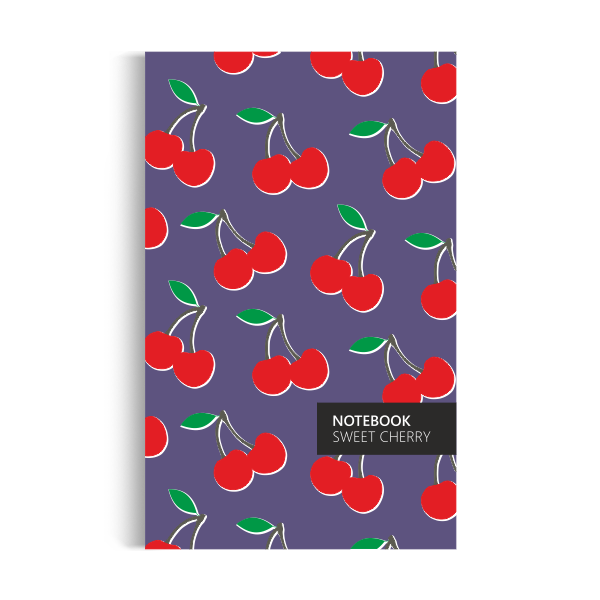 Cherry Notebook: Purple Edition (5x8 inches)