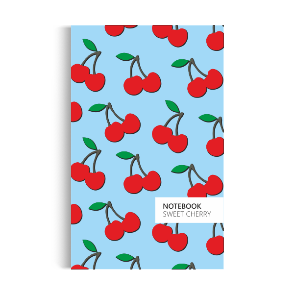 Notebook: Cherry - Sky Blue Edition (5x8 inches)