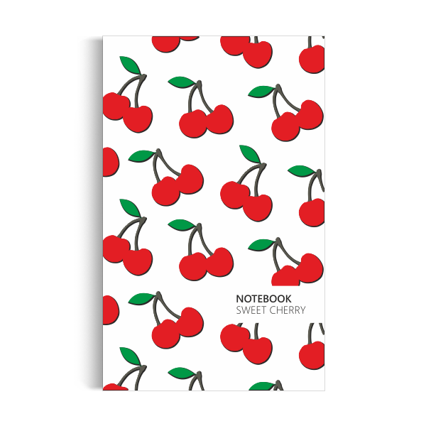 Cherry Notebook: White Edition (5x8 inches)