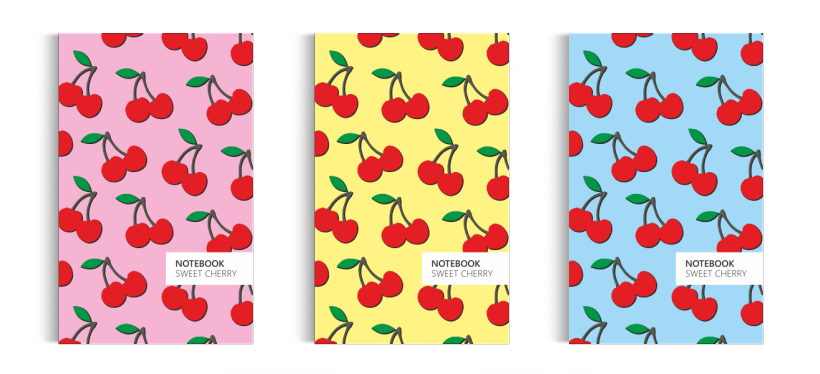 Notebook: Cherry Collection (5x8 inches)