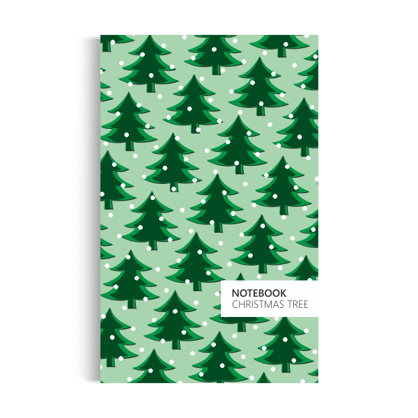 Notebook: Christmas Tree - Light Green Edition (5x8)