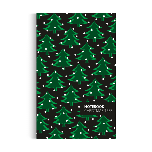 Christmas Tree Notebook: Night Green Edition (5x8 inches)