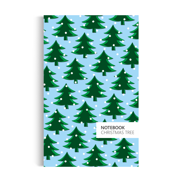 Christmas Tree Notebook: Powder Blue Edition (5x8)