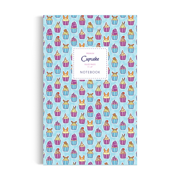 Notebook: Cupcake - Blue Edition (5x8 inches)