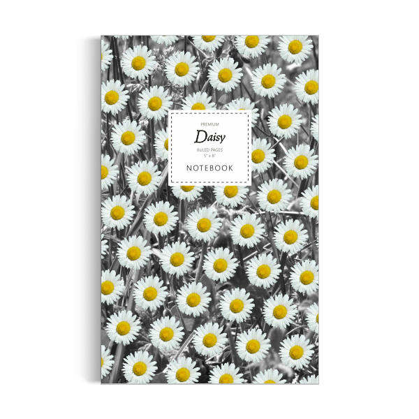 Daisy Notebook: Monochrome Leaf Edition (5x8 inches)