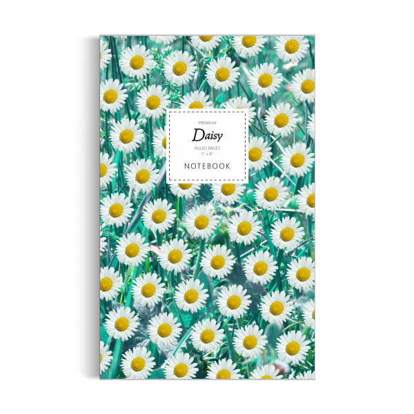 Daisy Notebook: Teal Leaf Edition (5x8 inches)
