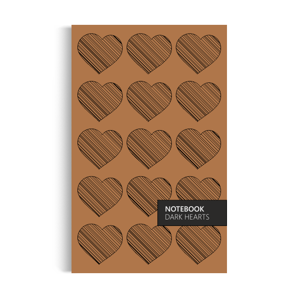 Dark Hearts Notebook: Brown Purple Edition (5x8 inches)