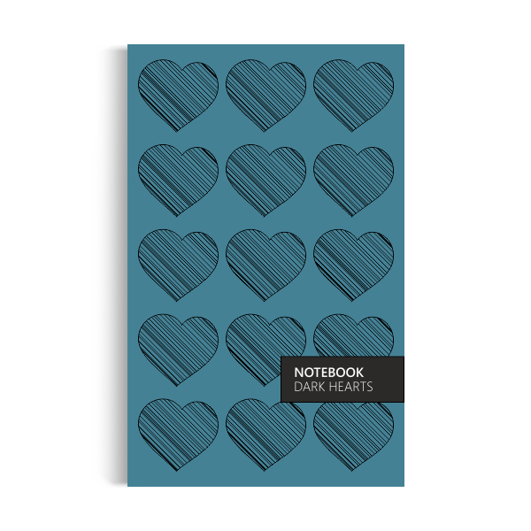 Dark Hearts Notebook: Turquoise Edition (5x8 inches)