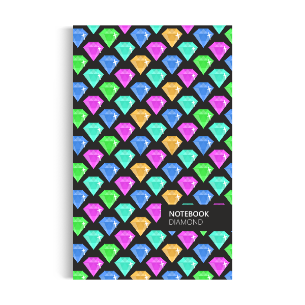 Notebook: Diamond - Neon Dark Edition