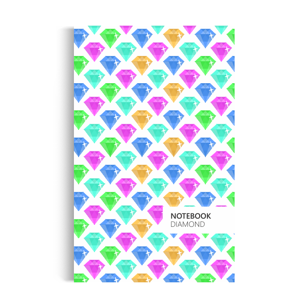 Diamond Notebook: Neon Light Edition (5x8 inches)