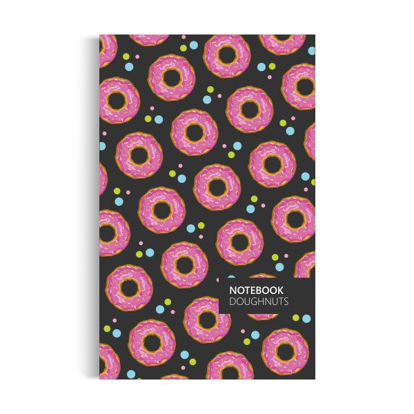 Doughnuts Notebook: Dark Edition (5x8 inches)