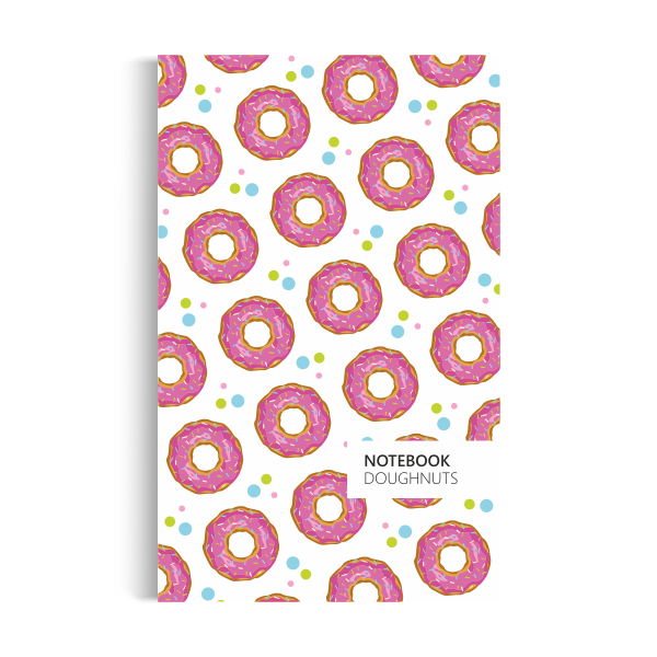 Notebook: Doughnuts - White Edition (5x8 inches)