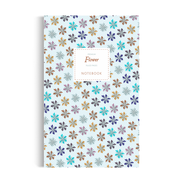 Flower Notebook: Blue Winter Edition (5x8)