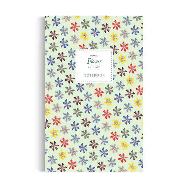 Flower Notebook: Green Summer Edition (5x8)