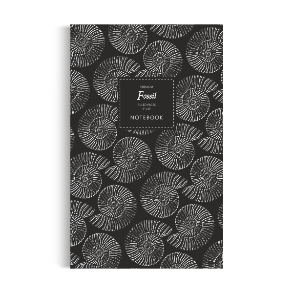 Fossil Notebook: Black White Edition (5x8 inches)