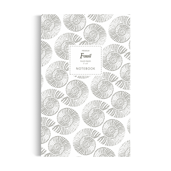 Fossil Notebook: White Black Edition (5x8 inches)