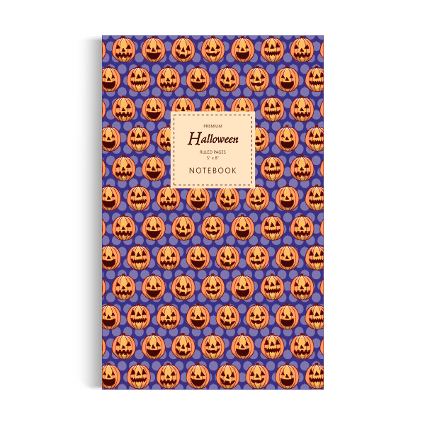 Halloween Notebook: Blue Edition (5x8 inches)