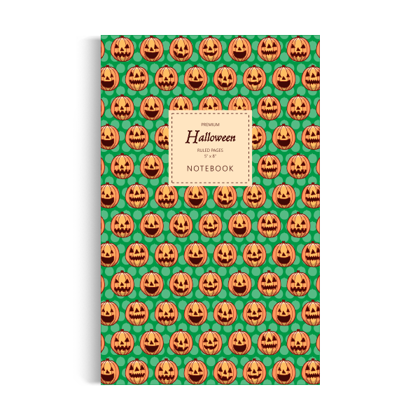 Halloween Notebook: Green Edition (5x8 inches)