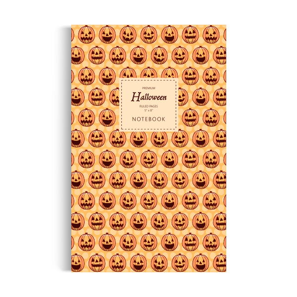 Notebook: Halloween - Orange Edition (5x8 inches)