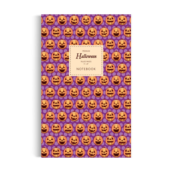 Halloween Notebook: Purple Edition (5x8 inches)