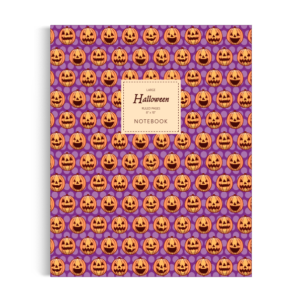 Halloween Notebook: Purple Edition (8x10 inches)