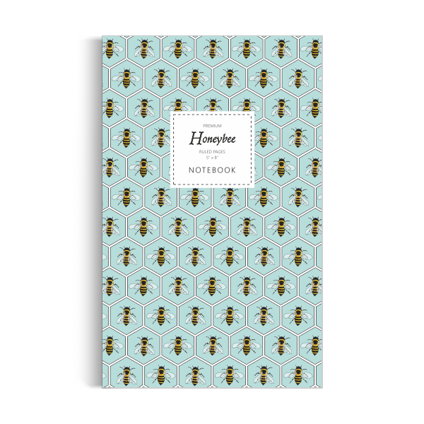 Honeybee Notebook: Aqua Edition (5x8 inches)