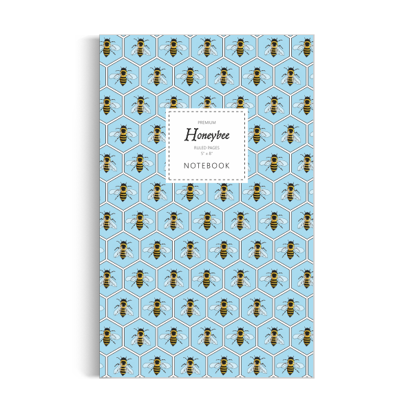 Honeybee Notebook: Blue Edition (5x8 inches)