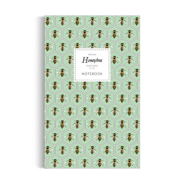 Honeybee Notebook: Green Edition (5x8 inches)