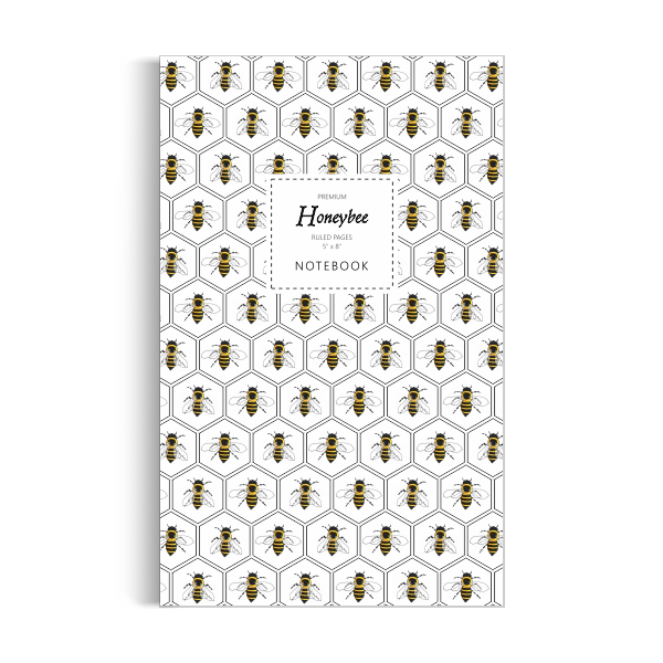 Notebook: Honeybee - White Edition (5x8 inches)