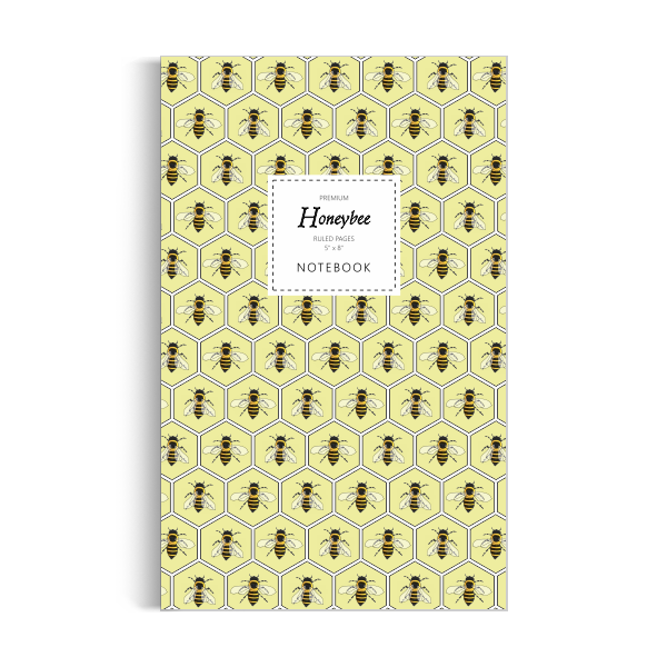 Honeybee Notebook: Yellow Edition (5x8 inches)