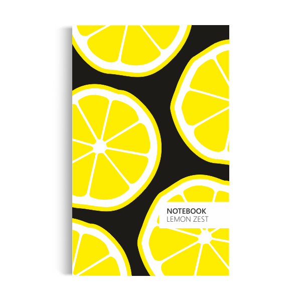 Lemon Zest Notebook: Black Edition (5x8 inches)
