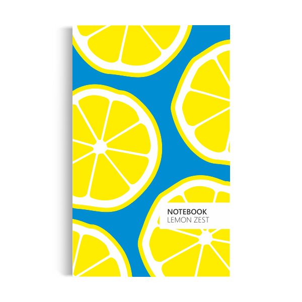 Lemon Zest Notebook: Blue Edition (5x8 inches)