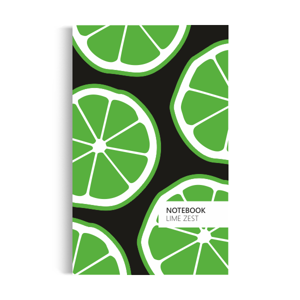Lime Zest Notebook: Black Edition (5x8 inches)