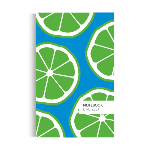 Lime Zest Notebook: Blue Edition (5x8 inches)